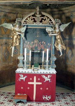 Altartavla i Lom stavkyrkje