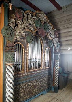 Orgelet i lom stavkyrkje