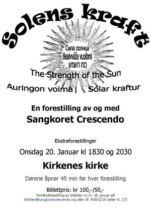 Konsertplakat til kirka  20  januar  
