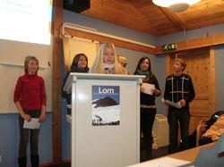 Ungdommar frå Röttingen i Lom kommunestyre