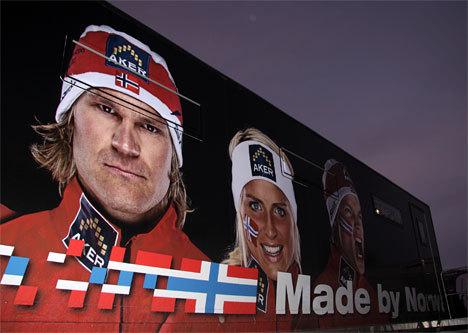 Smøretrailer, utvendig vegg. Foto: Geir Nilsen/Langrenn.com.