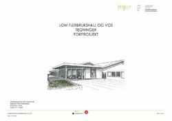 Teikna inngongsparti på førprosjektet for fleirbrukshus