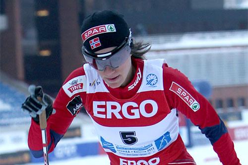 Heidi Weng, sprint-prolog i junior-VM i Otepää i Estland 2011. Foto: Erik Borg.