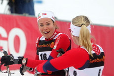 Britt Ingunn Nydal, slv p sprinten under U23-VM i Otep i Estland. Foto: Erik Borg.