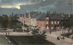 Fastinggården. Krysset Langveien - Skolegaten Kr. sund 1909