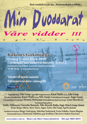 Rockemusikalen Vre vidder III   flyer  