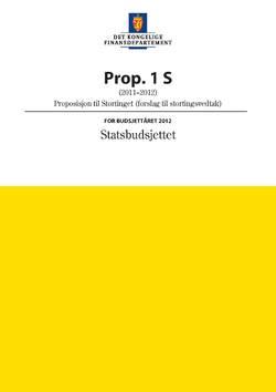 Statsbudsjettet 2012, bilde av forsiden