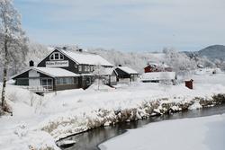Vinter, bp hus