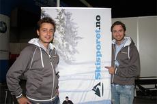 Anders og Bernt Bjørnsgaard fra Skisporet.no, her på sin stand fra SKIexpo 2011. De to blir med videre på satsingen sammen med Swix. Foto: Geir Nilsen/Langrenn.com.