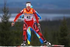 Lars Berger underveis mot 8. plass i verdenscupen på Sjusjøen i langrenn forrige sesong. Foto: Laiho/NordicFocus.
