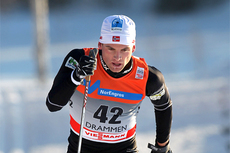 Niklas Dyrhaug underveis mot en 20. plass på 15 km klassisk i verdenscupen i Drammen i 2011. Foto: Hemmersbach/NordicFocus.