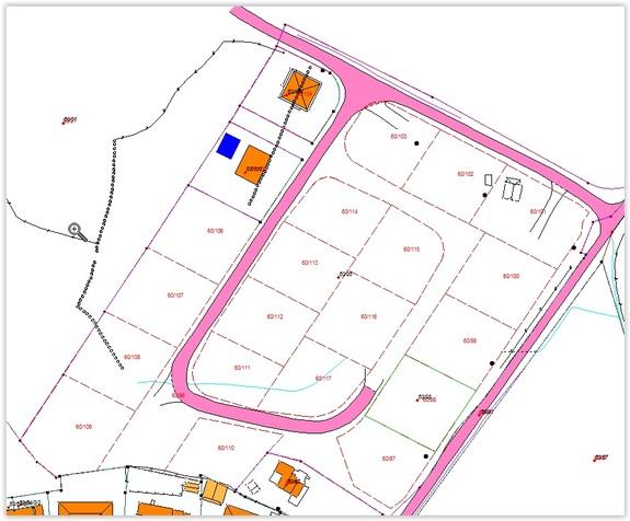 Situasjonskart - Ledige kommunale tomter på Ualand