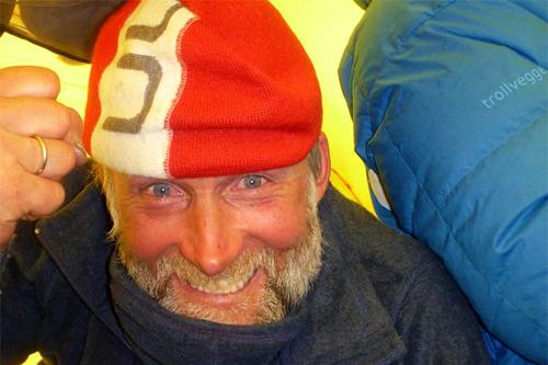 Vegard Ulvang på ekspedisjon til Sørpolen. Foto: Norsk Polarinstitutt.
