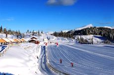 Illustrasjonsbilde fra den flotte NM-arenaen for Ski NM del 1 på Voss for noen sesonger siden. Arrangørfoto.