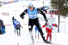 Kent Ove Clausen leder her NM-sprinten på Voss 2012. Til mål kom han som nummer tre. Foto: Geir Nilsen/Langrenn.com.