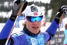 Eirik Brandsdal jubler etter å ha blitt norgesmester i sprint på Voss 2012. Foto: Geir Nilsen/Langrenn.com.