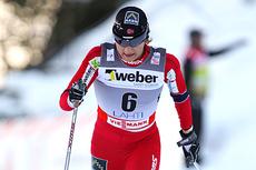 Maiken Caspersen Falla ble nummer fire på sprinten i Lahti, 2012. Foto: Laiho/NordicFocus