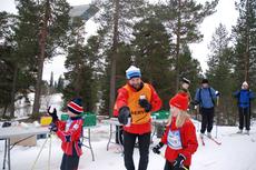 Illustrasjonsbilde: Mange ivrige små skiløpere ga alt under Barnas Holmenkollrenn. Foto: Skiforeningen.