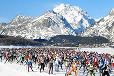 Idyllisk i Engadin Skimarathon. Foto: swiss-image.ch/NordicFocus.