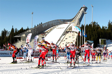 Illustrasjonsbilde fra verdenscup i Holmenkollen. 20. februar 2016 er det folkets tur til å gå femmila. Foto: Laiho/NordicFocus.