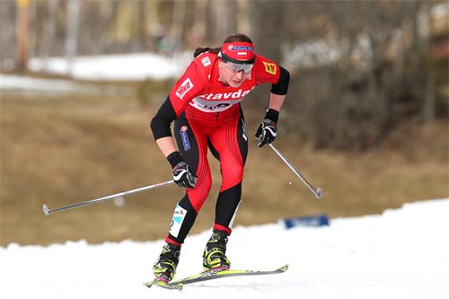 Justyna Kowalczyk avslutter sesongen 2011/2012 med 5. plass på verdenscupens jaktstart i Falun. Sammenlagt i world cup ble hun nr. 2 etter Marit Bjørgen. Foto: Hemmersbach/NordicFocus.