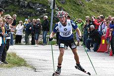 Martin Johnsrud Sundby klatrer mot seier i Lysebotn Opp under en tidligere utgave av Blinkfestivalen. Arrangørfoto.