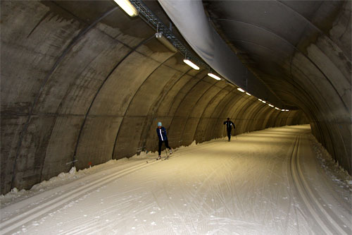 Arkivbilde fra en annen skitunnel. Foto: Geir Nilsen/Langrenn.com.