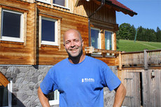 Trond Nystad hjemme i Ramsau i Østerrike. Foto: Petter Soleng Skinstad.