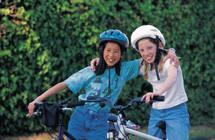 Jenter på sykkel