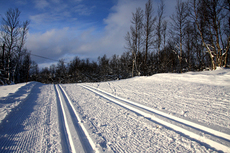 Slik så det ut på Garli, 2 km ovenfor Beitostølen sentrum, 13. november 2012. Foto: Geir Nilsen/Langrenn.com.