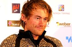 Petter Northug jr. på presseseansen på Beitostølen 2 dager før den nasjonale sesongåpningen i Beitosprinten. Foto: Erik Borg.