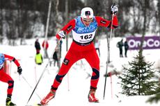 Finn Hågen Krogh viste muskler i Beitosprinten 2012 gjennom en meget sterk 3. plass. Foto: Geir Nilsen/Langrenn.com.