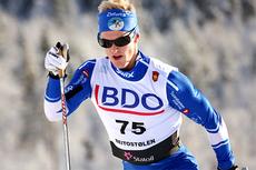 Morten Eide Pedersen underveis i den nasjonale sesongåpningens 15 km klassisk i Beitosprinten for to år siden. Foto: Geir Nilsen/Langrenn.com.