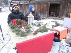 Sal av julekrans.