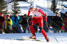 Maiken Caspersen Falla tok sin andre verdenscupseier i karrieren da hun vant sprint fristil i Canmore 2012. Her fra prologen. Foto: Roycroft/NordicFocus
