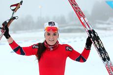 Hilde Losgård Landheim fra Tynset vant tre av tre mulige løp da juniorene gikk Norgescup i Steinkjer 2013. Foto: Erik Borg