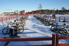 NM Vintertriathlon på Lygna i januar 2013. Foto: Privat.