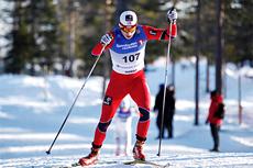 Finn Hågen Krogh underveis i norgesmesterskapet på 15 km fristil på Gåsbu 2013. Foto: Rasmus Kongsøre/Langrenn.com.