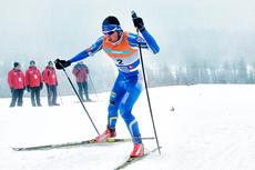 Petter Northug ute på 30 km fellesstart i NM på Gåsbu 2013. I mål ble det gull foran Didrik Tønsetth og Martin Johnsrud Sundby. Foto: Rasmus Kongsøre/Langrenn.com.