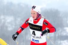Tuva Toftdahl Staver haster tilbake til Norge for å få med seg NM-stafetten for sitt kjære Heming. Foto: Erik Borg.
