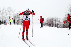 Mathias Rundgreen ute på fellesstarten i U23-VM i Liberec 2013 hvor det ble en fin 10. plass. Foto: Erik Borg.