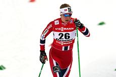 Astrid Uhrenholdt Jacobsen i kvartfinalen da det ble gått sprint i klassisk stil under VM i Val di Fiemme 2013. Foto: Felgenhauer/NordicFocus