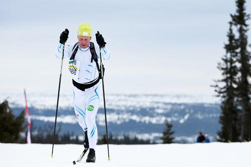 Bjørn Dæhlie hadde sin storhetstid for noen år siden, men han bruker fortsatt skiene, slik som her i  Birkebeinerrennet 2012. Foto: Veltheim/NordicFocus.