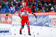 Pål Golberg gikk inn til 5. plass på VM-sprinten i Val di Fiemme 2013, men dette bildet er fra den innledende prologen. Foto: Laiho/NordicFocus.