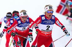 Therese Johaug underveis i skiathlon under VM i Val di Fiemme 2013 hvor hun tok sølv. Foto: Felgenhauer/NordicFocus