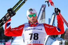 Petter Northug smadret konkurrentene på 15 km klassisk med intervallstart i Lahti under verdenscupen 2013. Foto: Laiho/NordicFocus.