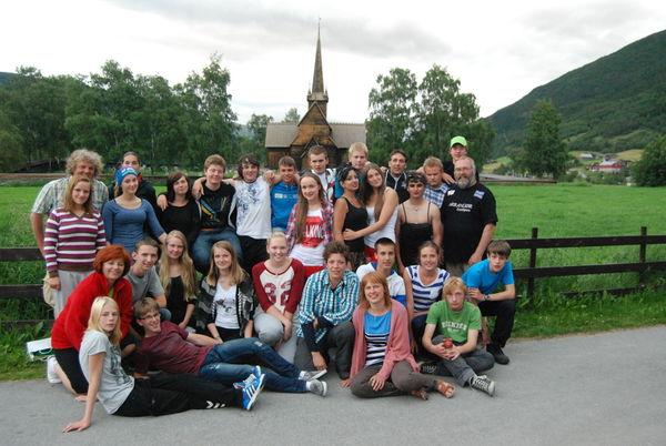 Ungdomsutveksling i Lom 2012. Ungdom frå Polen og Nederland var gjester.