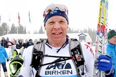 Daniel Tynell etter målgang i Birken. Foto: Geir Nilsen/Langrenn.com.
