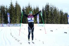 Astrid Uhrenholdt Jacobsen fra Heming var 33 sekunder foran nest beste løper på 30 kilometer klassisk stil under NM på Budor 2013. Foto: Erik Borg.