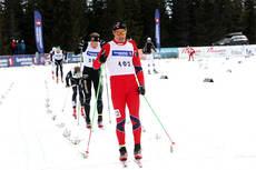 Sondre Turvoll Fossli til topps i sprintfinalen i eldste klasse under NM på Budor 2013. Foto: Erik Borg.